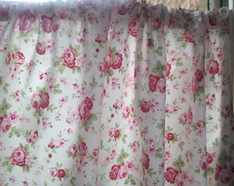 Popular items for shabby curtains on Etsy - Small Country Chic Kitchen Curtains