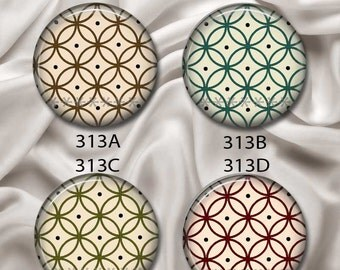 "Asian Flair Designs 1 - Interchangeable Magnetic Design Inserts - FIT Clique and Magnabilities 1"" Pendant Jewelry Bases...313"