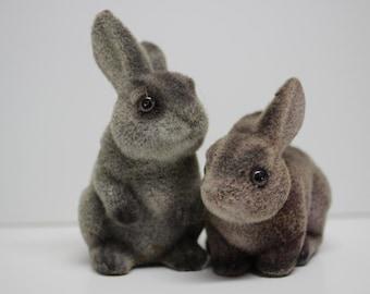 Vintage Velvet Bunny Penny Bank