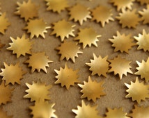 20 pc. Tiny Raw Brass Sunbursts : 9mm - made in USA | RB-182