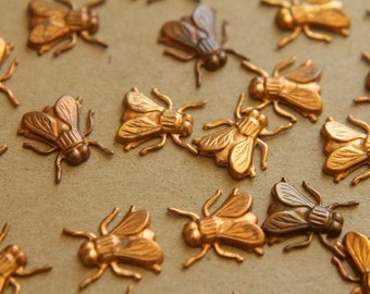 12 pc. Raw Brass Flies: 12mm by 12.5mm - made in USA | RB-147