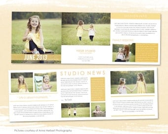 Studio Newsletter template - 5x5 photoshop template