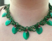 Poison Ivy Chainmaille Necklace- Batman comics inspired.