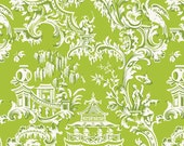 Chinoiserie Collection for Anna Griffin Fabrics One Yard of Temple in Green