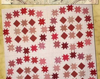 Old Green Cupboard Star Stepping Quilt Pattern