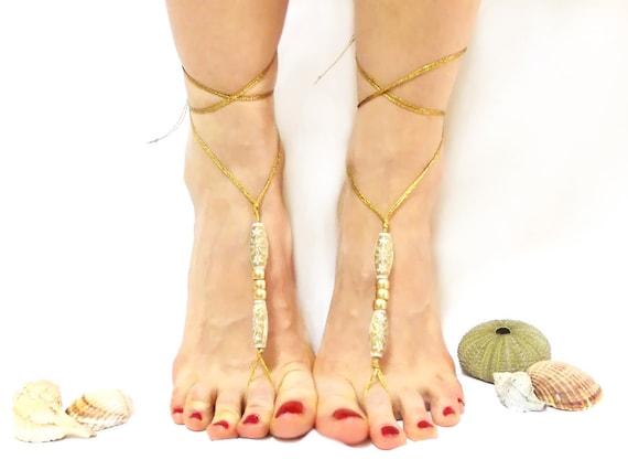 Barefoot Sandal Luxury Barefoot Sandles Golden Golden