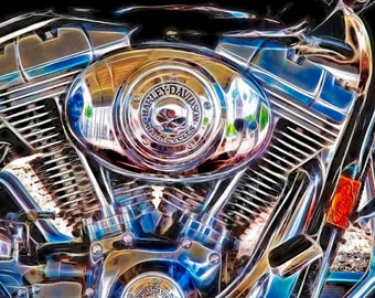 Harley Davidson Motorcycle III- Fine Art Photograph Print Picture
