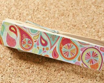 Jumbo Wood Clothespin, Boho Print, Photo Holder, Party Table Decor