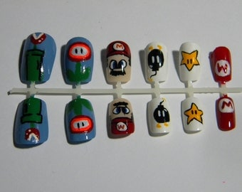 Super Mario False Nails