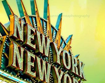 New Yor New York Sign,  Las Vegas 8x10 home decor