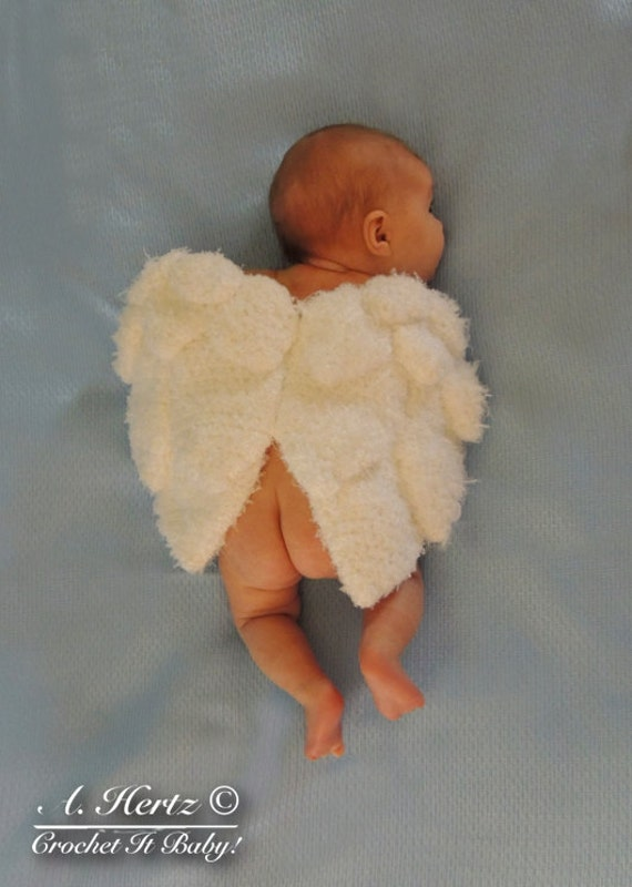 Crochet Angel Wings Cover Photo Prop Pattern - Newborn