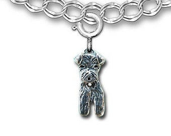 Sterling Silver Airedale Charm