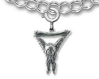 Sterling Silver Orangutan Charm