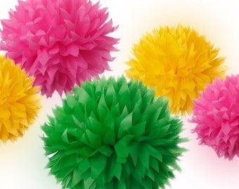 Tissue Paper Pom Poms Set of 20