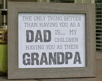 Father's Day gifts, Papa, Poppa, Grandpa, Dad, Father, rustic