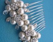 1920's Wedding hair accessories Bridal hair comb Wedding headpiece 1920's bridal hair jewelry Wedding accessories Bridal jewelry Wedding