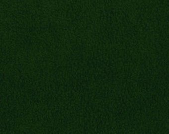 Hunter Green Solid Classic Fleece Fabric, 60 Inches Wide and Sold By The Yard