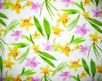 Islands Fabric Floral Breeze Fleece Fabric and sold by the yard