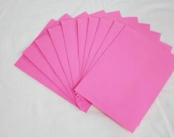 10 Bright Pink 4x6 Invitation Envelopes - set of 10 - size A6 4-3/4 x 6-1/2