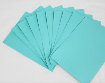10 Aqua Blue 4x6 Invitation Envelopes - set of 10 - size A6 4-3/4 x 6-1/2