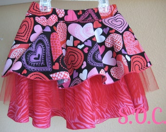Ready to Ship~Valentine's Sweetheart Layered Skirt, Size 4