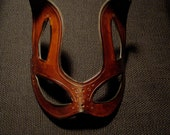 Handmade Molded Leather Brown Baby Bunny Masquerade Mask