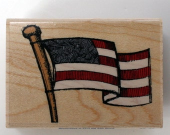 American Flag Rubber Stamp Brand New