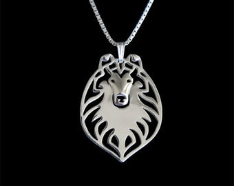 Rough Collie - sterling silver pendant and necklace