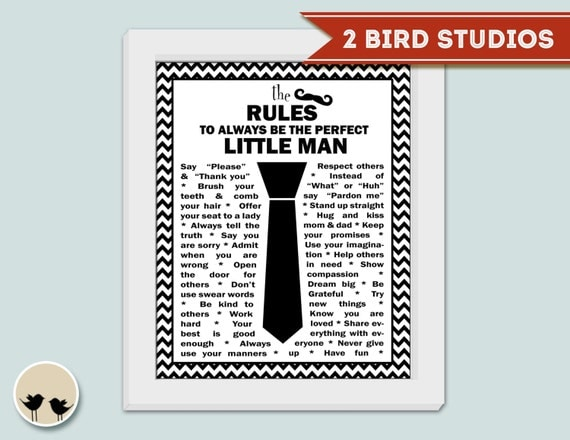 Mustache nursery wall art - Little man rules - Artwork for little man's nursery - boy's nursery art print- PRINTABLE INSTANT DOWNLOAD 8x10
