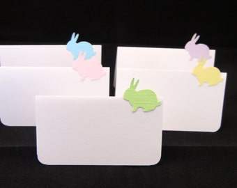 10 Handmade Easter Place Cards, Baby Shower Place Cards, Birthday Place Cards, Customize Your Colors, Name Printing Upgrade Possible