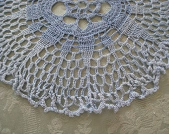 Vintage 11 Inch Blue Doily Crochet