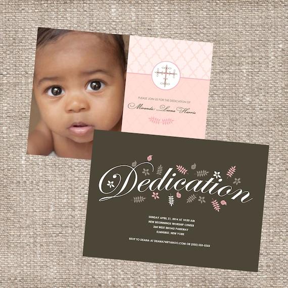 Christian Baby Dedication Christening Photo by DiconshaDesigns