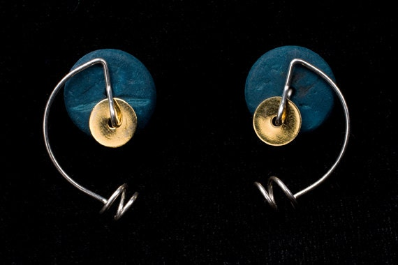 4 FREE COLORS - stud earrings with interchangeable colours, argentium sterling silver, or gold-filled, anodized niobium