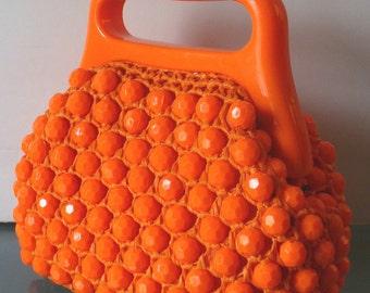 Made in Italy Beaded and Raffia Handbag By Lady Ellen