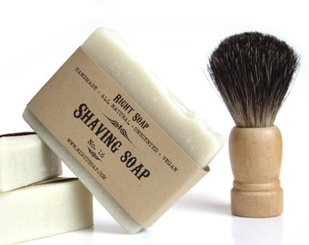 Shaving Soap bar, natural soap, unscented soap, Mens Grooming gift,  gift for Men gift for dad,  Gift for boyfriend husband gift
