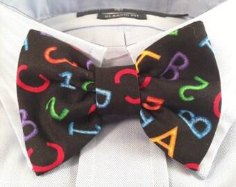 ABC 123 Teacher Professor Bowtie / Bow Tie