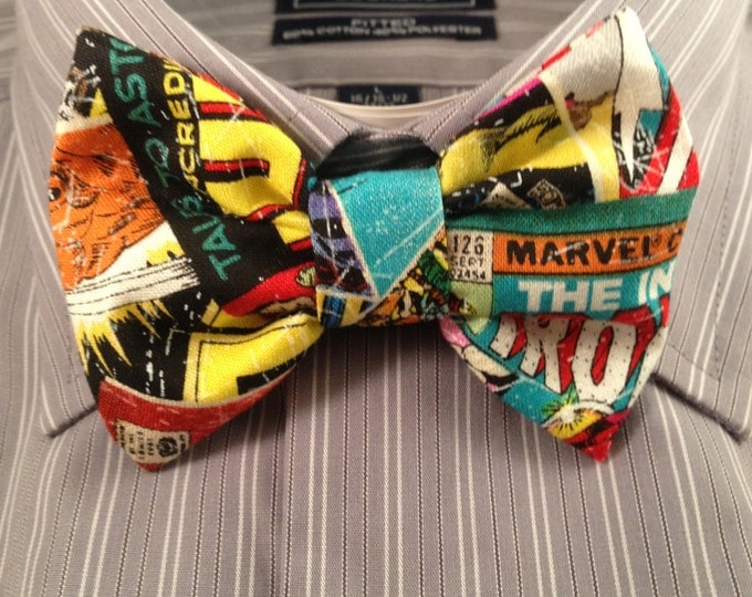 Featured listing image: Vintage Comic book Print Bowtie / Bow Tie