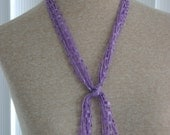 Lanyard or Scarf Lavender (ribbon yarn)