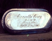 Victorian casket plate for Everetta Nash Corey, died 1890 at 38 years of age