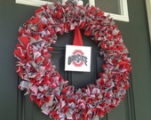 Ohio State Buckeyes Fabric Wreath