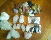Lot of tumbled crystals & quartz points saved for indigentdesigns