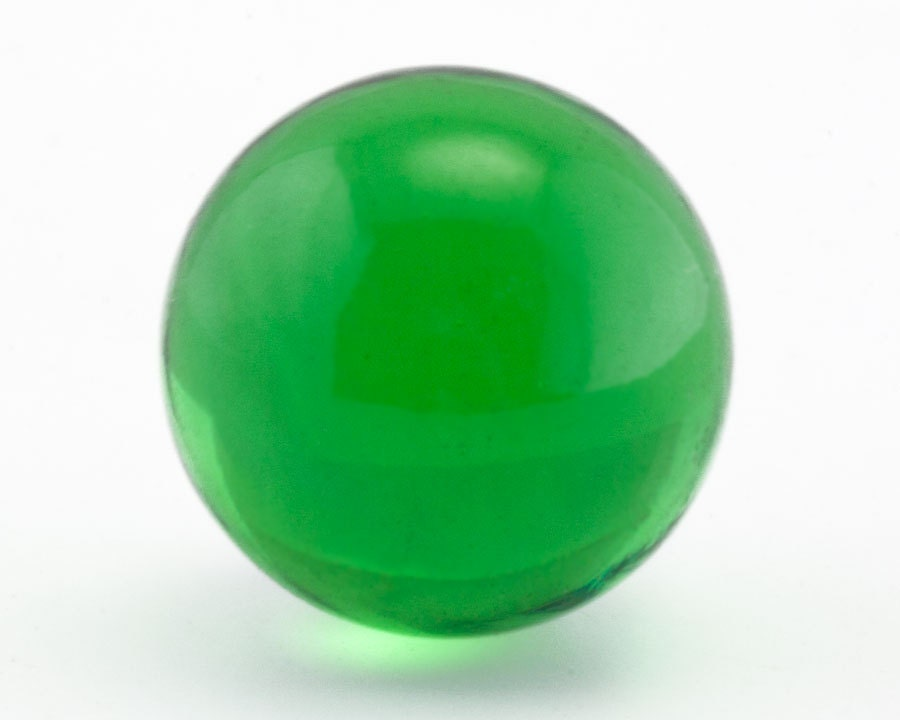 Green Glass Marble : Vintage marbles mm emerald green round glass