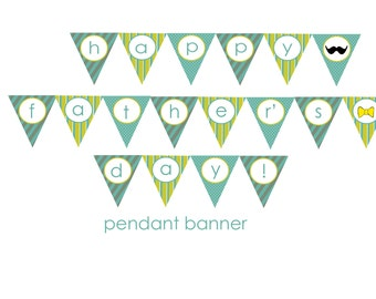DIY Printable Fathers Day Banner (INSTANT DOWNLOAD)