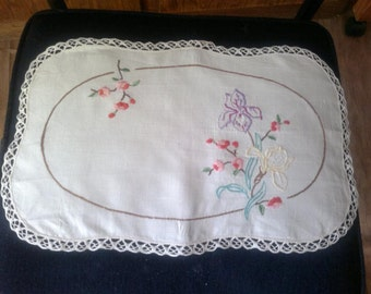 Hand Embroidered Doiley