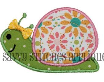 Snail Machine Embroidery Applique Design