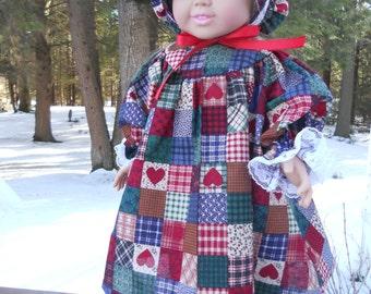 Three piece prarie dress with patchwork quilt pattern