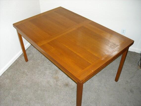 Reduced Teak Draw Leaf Extending Dining Table Danish Modern 4 : il570xN459541193srep from www.etsy.com size 570 x 428 jpeg 47kB