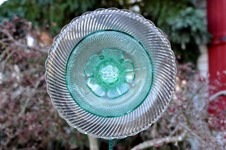 Repurposed Glass Garden Flower Garden Art Made Of Glass