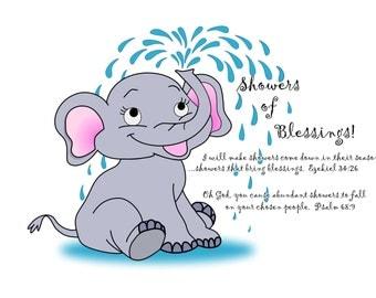 Showers of Blessings Elephant Pillowcase