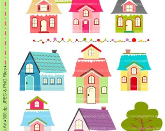 SALE house Digital Clip Art , house, Personal and Small Commercial Use, Invitations, Card Making, Scrapbooking  M.40